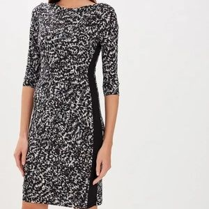 NEW! LAUREN RALPH LAUREN GRAY BLACK DRESS